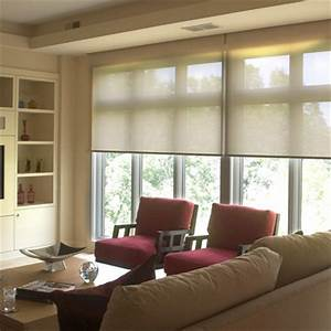 Roller blinds and shades traditional living room for Living room window blinds
