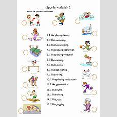 Sports  Matching Worksheet  Free Esl Printable Worksheets Made By Teachers