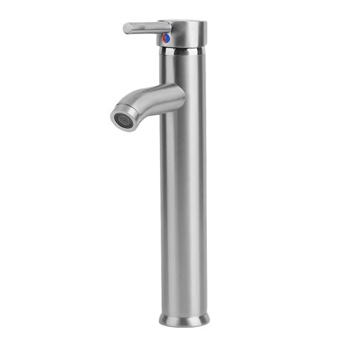 tall vessel sink faucet 12 quot 30cm tall silver bathroom vessel sink faucet brushed