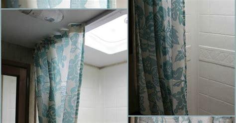 change  travel trailer shower curtain tutorial trailer love pinterest  curtain