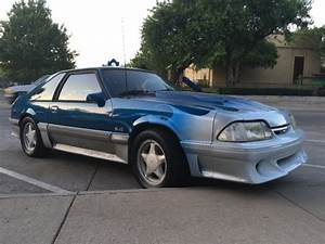 Ford Mustang Hatchback 1992 Blue For Sale. 1FACP42E1NF103172 92 Mustang GT