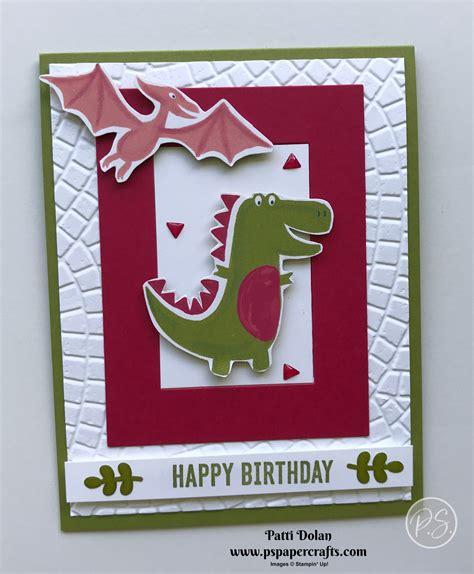 kids dinosaur birthday card ps paper crafts