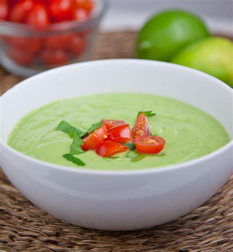 cold soup creamy chilled cucumber and avocado soup recipe dishmaps