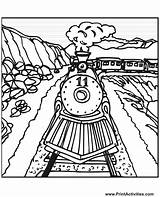 Train Coloring Pages Steam Tracks Track Railroad Colouring Printable Drawing Draw Trains Number Csx Engine Freight Sheet Template Sheets Drawings sketch template