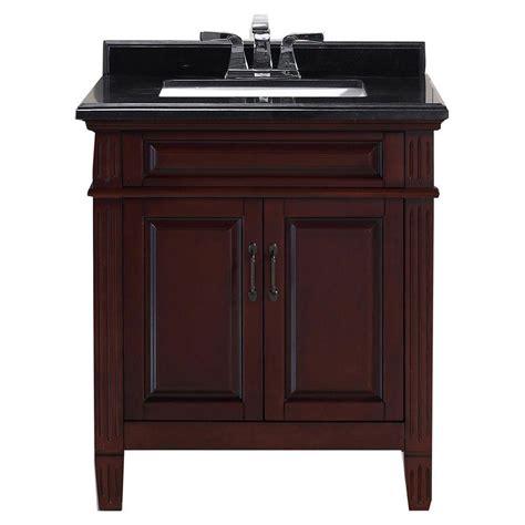 granite top vanity carsen 30 in vanity in chocolate with granite vanity top