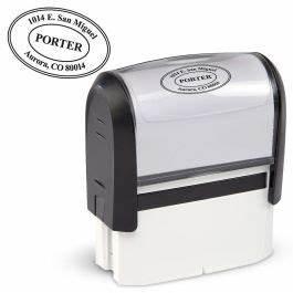 oval address stamper current catalog With current address stamp