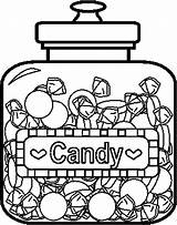 Candy Colorear Caramelle Jar Coloring Disegni Chucherias Tarros Yahoo Jars Colouring Printable Crafts Colorare Disegno Drawn Line Coloratutto Shuman sketch template