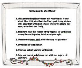 6 Word Memoirs Examples