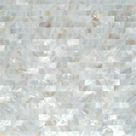 white mosaic tile white square pattern of pearl mosaic tile