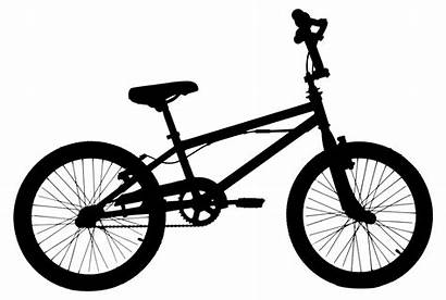 Bike Bicycle Silhouette Clip Bmx Clipart Side