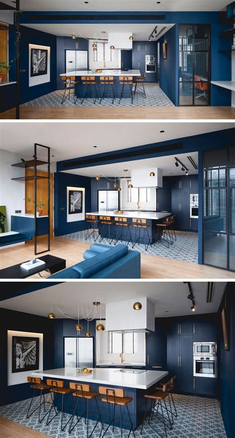 whitewash kitchen cabinets photos kitchen design idea blue kitchens contemporist 1493