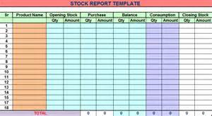 Stock Report Template Excel Stock Report Template Free Report Templates
