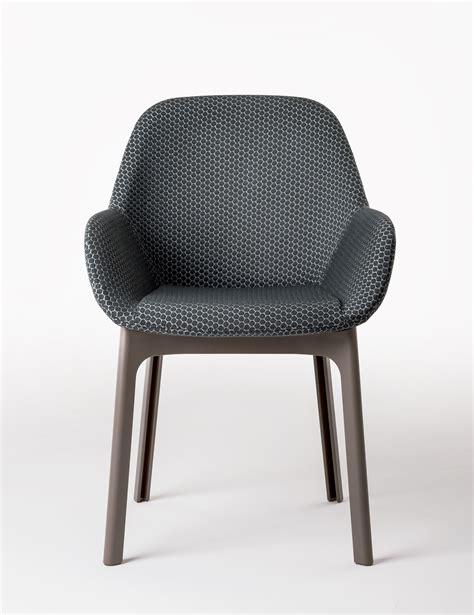 chaise bureau sans roulettes fauteuil rembourré clap tissu pieds plastique graphite
