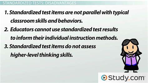 standardized tests  education advantages