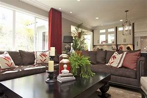 Stylish Transitional Family Room Robeson Design