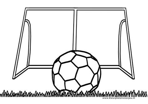 Goal Kleurplaat by Voetbal Kleurplaten Kleurplaten Voor Jou
