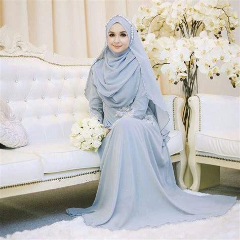 inspirasi gaun pengantin muslimah  syari  elegan