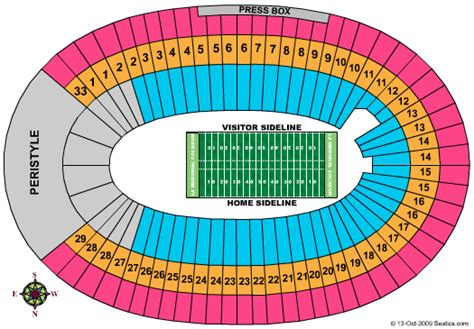 los angeles memorial coliseum seating chart