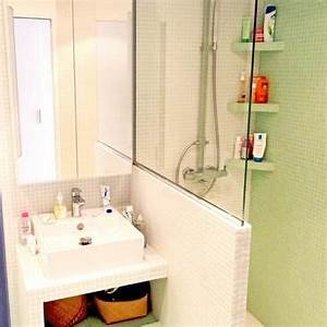 Douche Petit Espace : paroi vitr e douche qui ne commence qu 39 mi hauteur salle d 39 eau rdc en 2019 design para ~ Voncanada.com Idées de Décoration
