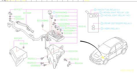 95 Impreza Fuse Diagram by 82211fc160 Fuse Box Harness Front Genuine