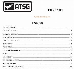 Ford Aod Transmission Rebuild Manual On Cd 1980