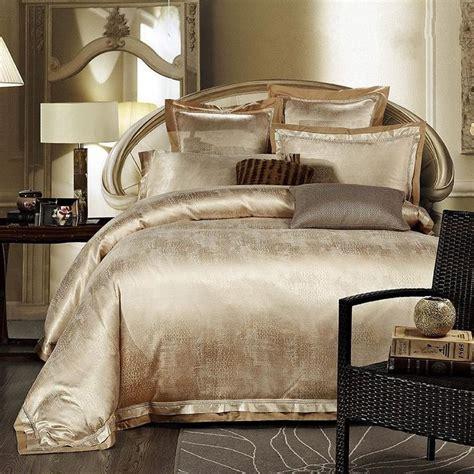 King Bedroom Duvet Sets by Gold White Blue Jacquard Silk Bedding Set Luxury 4pcs