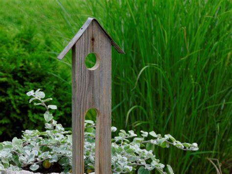 Gartendeko Holz Groß by Vogelhaus Als Gartendeko Basteln Und Dekorieren