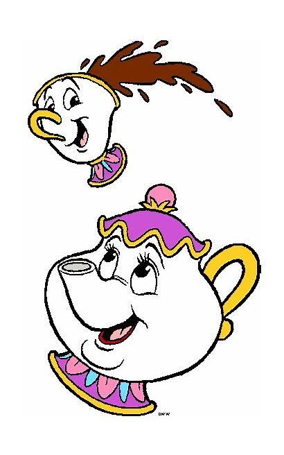 Chip Mrs Potts Disney Clipart Teacup Beast