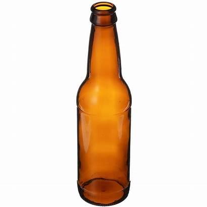 Beer Bottle Glass Amber Oz Round Crown