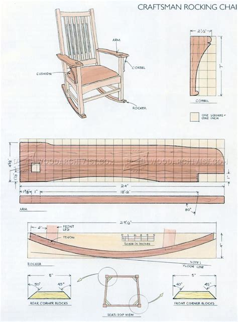 craftsman rocking chair plans woodarchivist