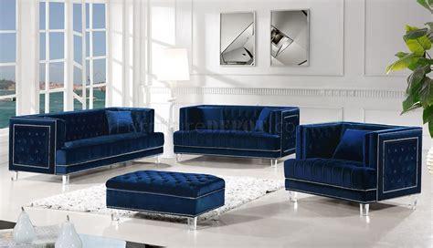 lucas sofa navy velvet fabric meridian woptions