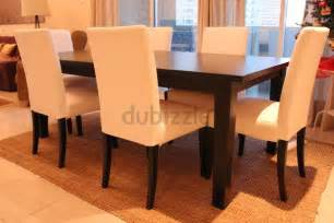 ikea stornas dining table with 6 chairs second hand dubai