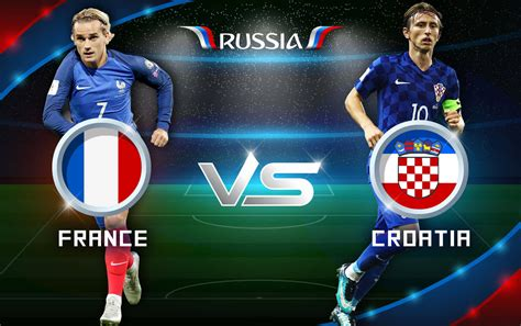 France Croatia Fifa World Cup Russia Final Match