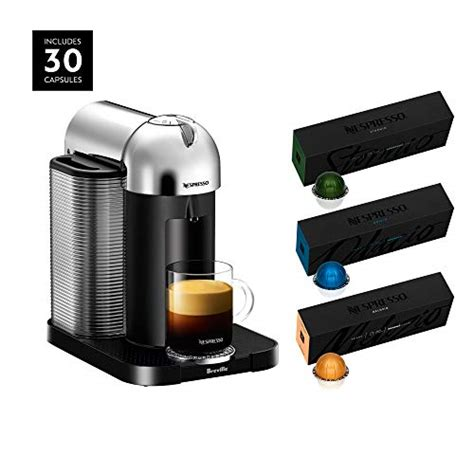 Offering freshly brewed coffee with crema as well as delicious, authentic espresso, the vertuoplus deluxe machine conveniently makes two cup sizes at the touch of a button: Nespresso Vertuo Coffee and Espresso Maker by Breville, Chrome with BEST SELLING VERTUOLINE ...