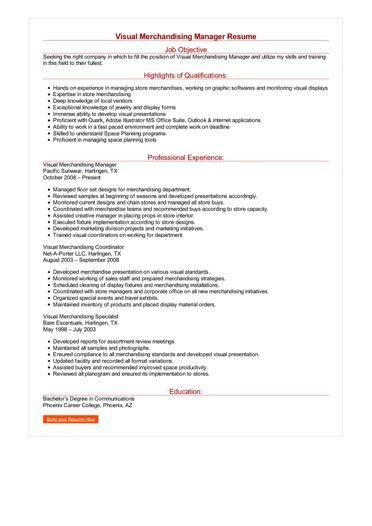 Visual Merchandising Resume by Visual Merchandising Manager Resume Great Sle Resume