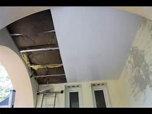 Faux Plafond Pvc : poser plafond suspendu en pvc un ex no life bricole ~ Premium-room.com Idées de Décoration