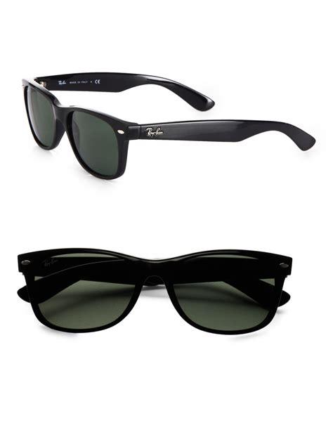ray ban wayfarer sunglasses black men lyst