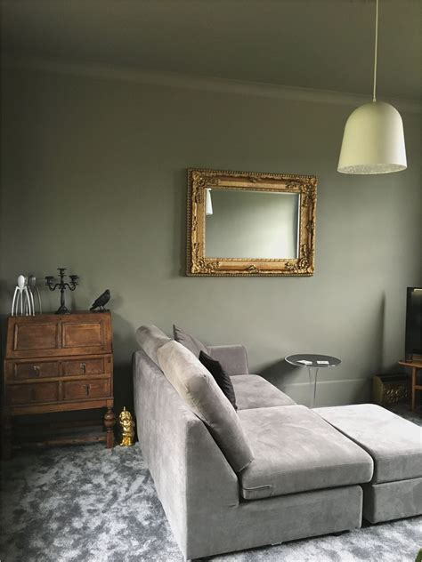 gray green and brown living room wall color combination