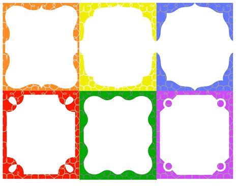 7 Best Images Of Free Border Templates Printable Badge