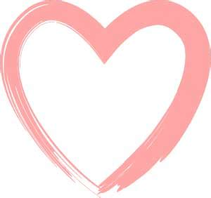 brush stroke pink heart clip art