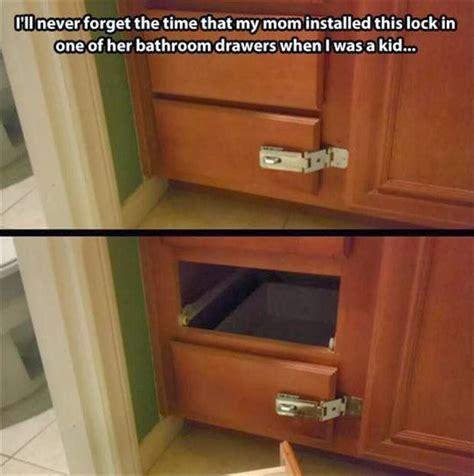 mom installs lock  bathroom drawer funny meme funny memes