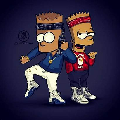 Supreme Wallpapers Cartoon Bart Simpson Dope Gucci