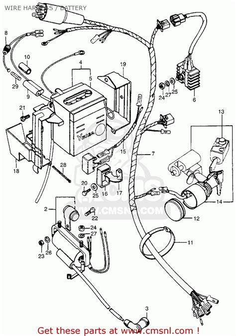 honda ct90 trail 1974 usa wire harness battery buy wire harness battery spares online