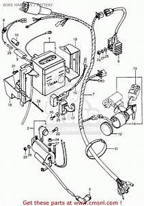 Honda Ct90 Trail 1974 Usa Wire Harness    Battery