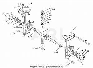 Troy Bilt 12216 Tiller    Edger Parts Diagram For