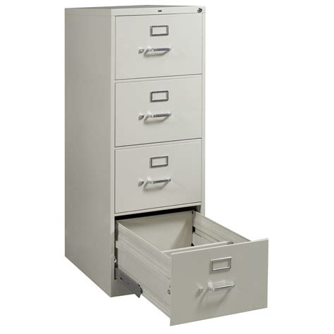 Hon Used 4 Drawer Legal Size Vertical File Light Gray