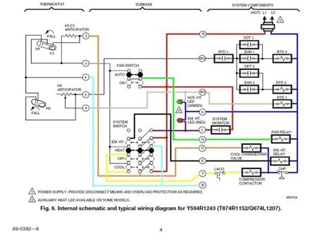 2 Stage Thermostat Wiring Diagram by 2 Stage Honeywell 6000 Thermostat Wiring Diagram Wiring