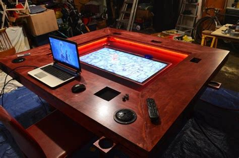 Board games artists designers publishers accessories families forums geeklists honors tags wiki users podcasts podcast ep. D&D Table with Embedded TV and Rail System (with build details) - gaming (With images)   Gaming ...