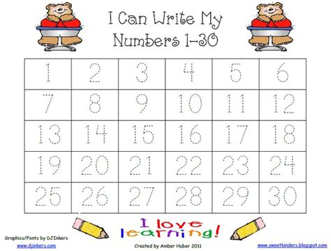 kindergarten worksheets numbers