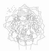 Coloring Draw Wanderer Vectors sketch template